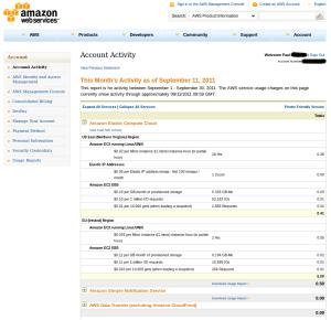 Amazon Web Services - Billing